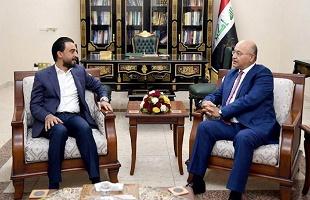 برهم صالح والحلبوسي يؤكدان على دعم الكاظمي والإسراع بتشكيل الحكومة الجديدة