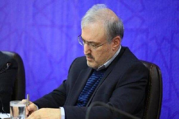 وزير الصحة الايراني: ندعو منظمة الصحة العالمية لكسر الحظر الظالم
