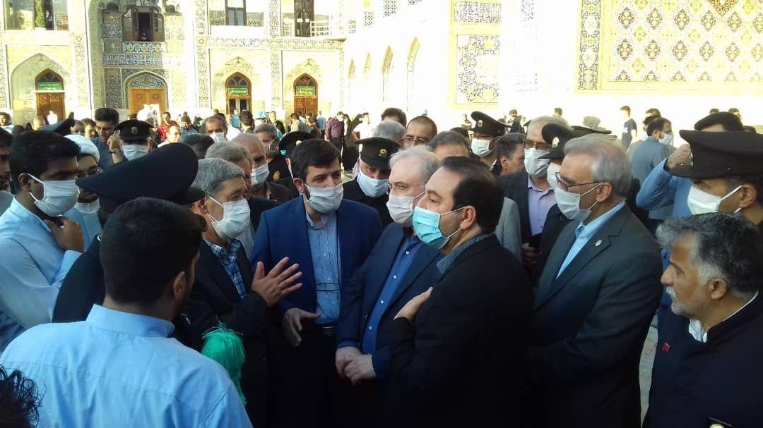 إعادة فتح صحون مرقد الإمام الرضا (ع) على مدار الساعة