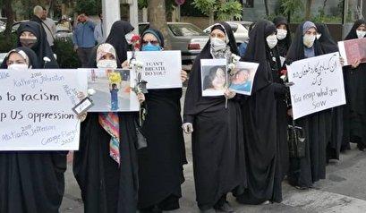 تحشد للطلبة الايرانيين احتجاجا على العنصرية في اميركا