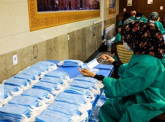 مصانع ايرانية تنتج 16 مليون كمامة طبية يوميا