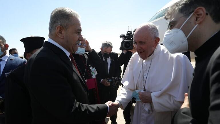 وصول البابا إلى مدينة أور الأثرية بجنوب العراق للصلاة في بيت النبي إبراهيم