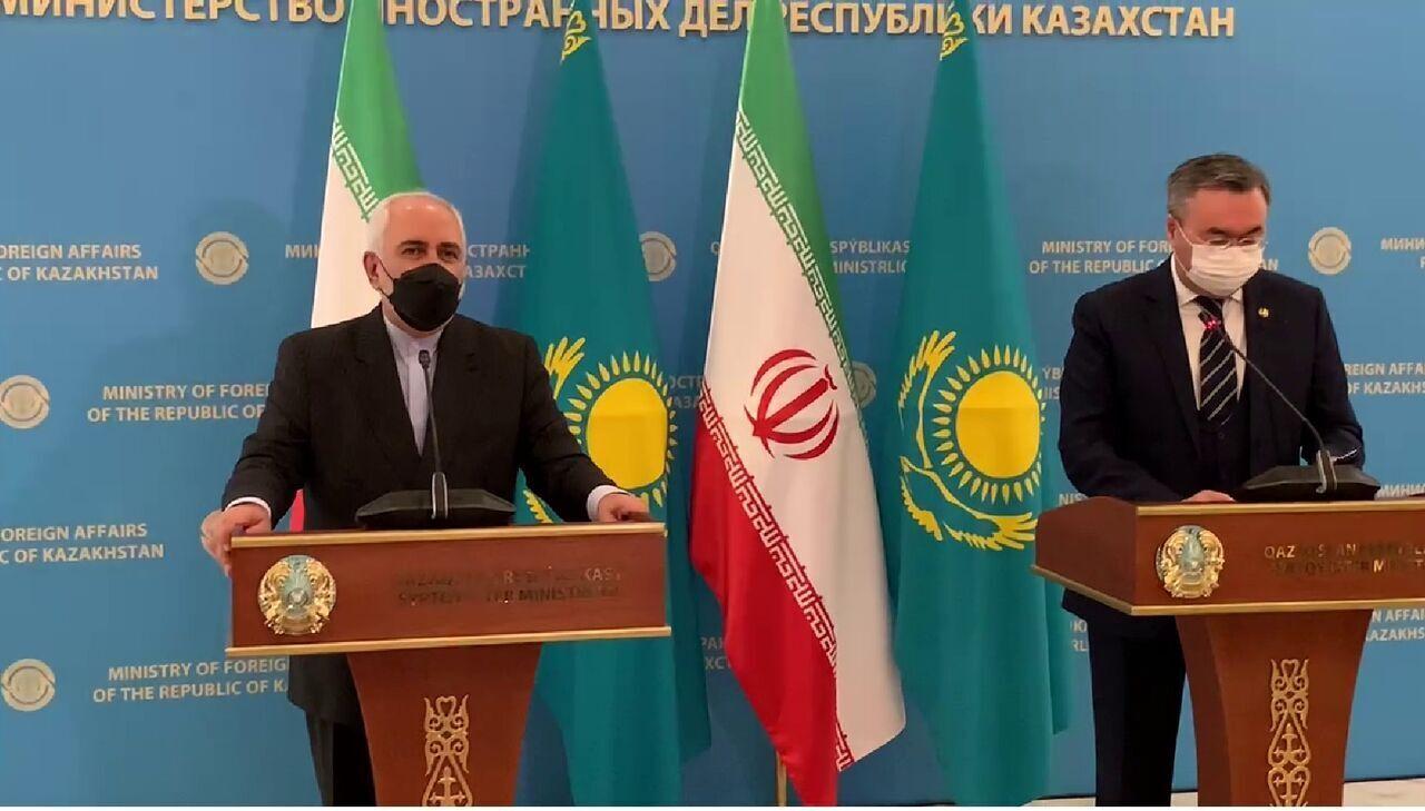 ظريف: هناك قواسم مشتركة كثيرة تربط بين إيران وكازاخستان