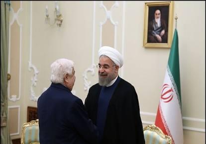 Rouhani, Muallem discuss Syria