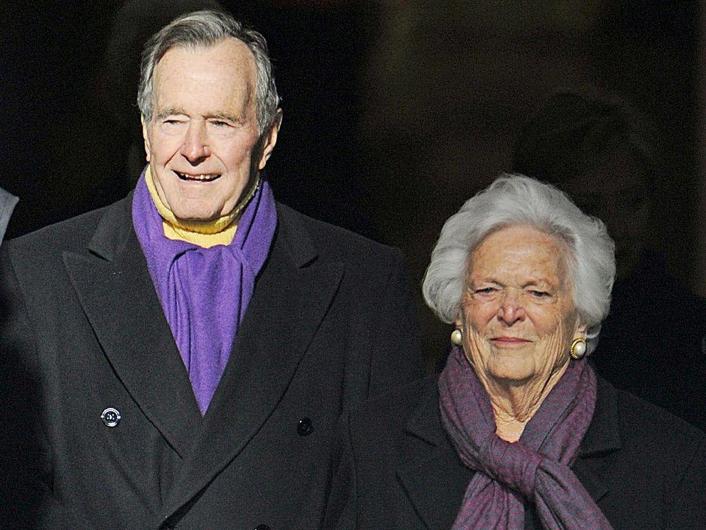 US ex-president George H.W. Bush and wife hospitalized