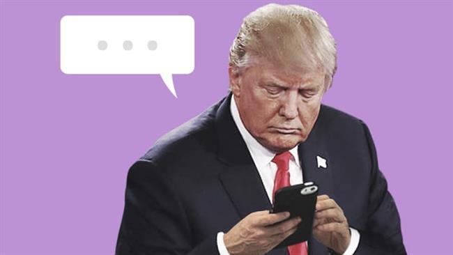 'Quiet down your Twitter, open your heart,' Trump told