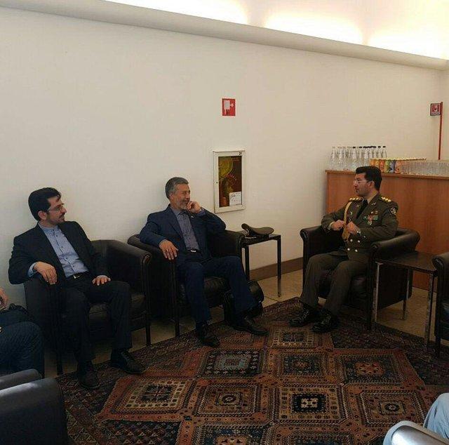 Iranian navy commander in Italy