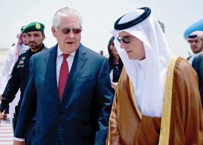 Tillerson in Saudi Arabia to push failed US vision