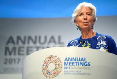 IMF's Lagarde: keep monetary policy loose with eye on markets