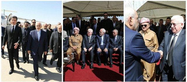 Zarif once again reiterates Iraq's unity, terrestrial integrity