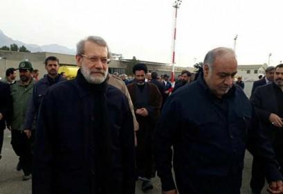 Parliament speaker arrives in Quake-hit Province Kermanshah