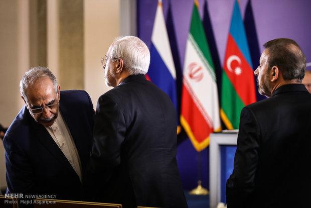 Iran, Azerbaijan, Russia's presidents press conference