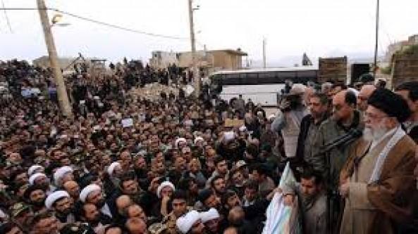 Iran's Leader visits quake-hit border province