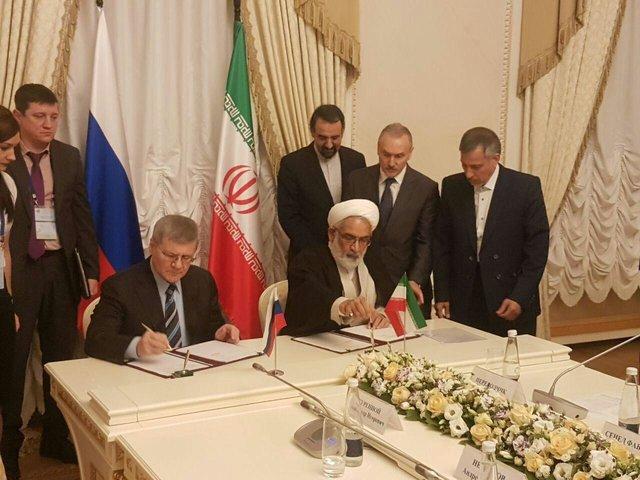 Iran, Russia ink MoU in judicial field