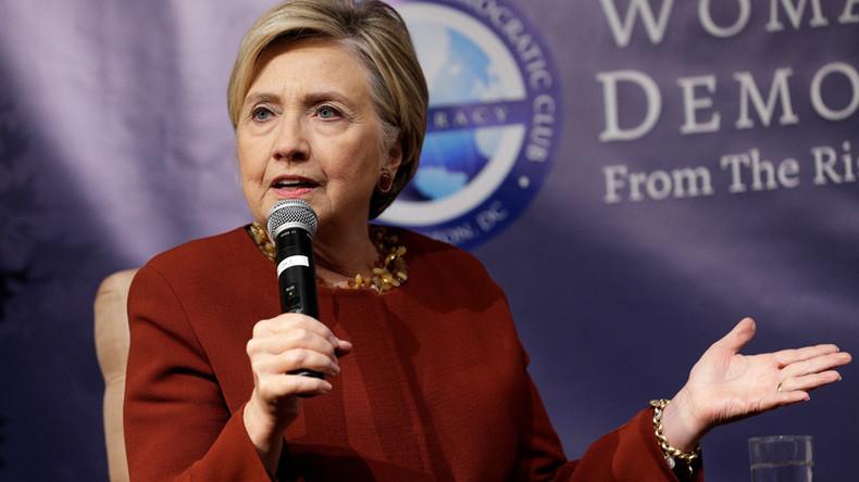 Assange posts meme of ax-wielding Clinton over DNC deal revelations