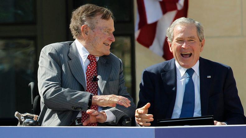 'I don't like him': Bush presidents, Snr & Jr, lash out at 'blowhard' Trump