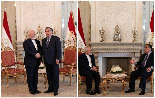 Zarif meets with Tajik president, foreign minister
