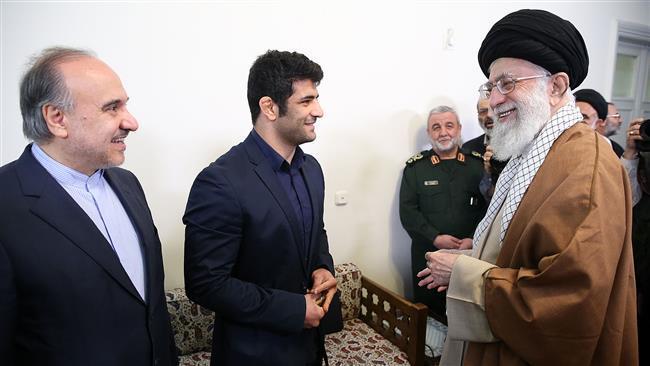 Ayatollah Khamenei praises Iranian wrestler's 'sacrifice, sportsmanship'