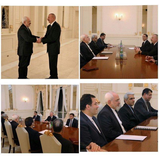 Zarif, Azeri president discuss bilateral ties, regional matters