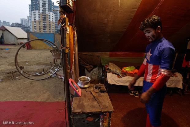 Circus scenes in India