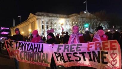 Americans protest policies of Israel as Netanyahu visits US