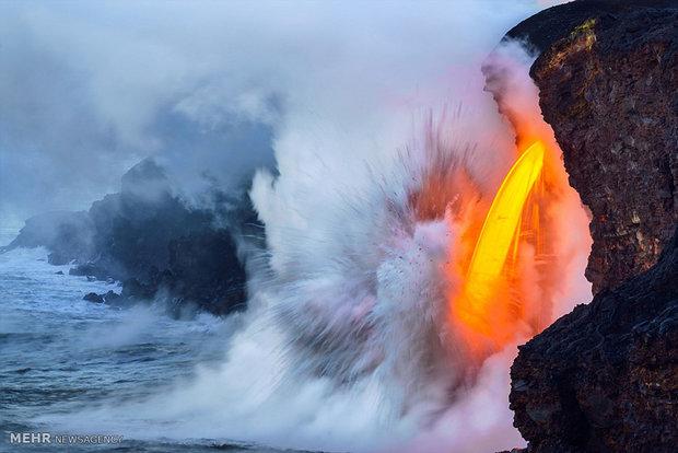 Photos of volcano eruptions in Hawaii