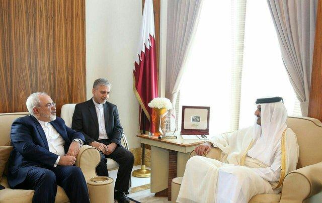 Iran's Zarif, Qatari Emir discuss bilateral ties, regional issues