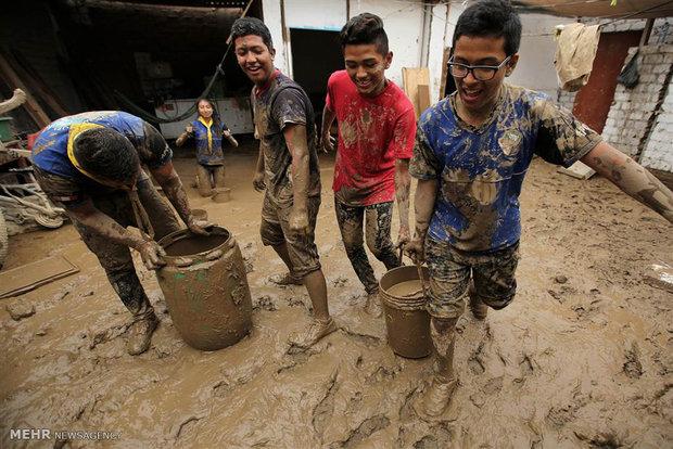 Flood makes thousands homeless in Peru