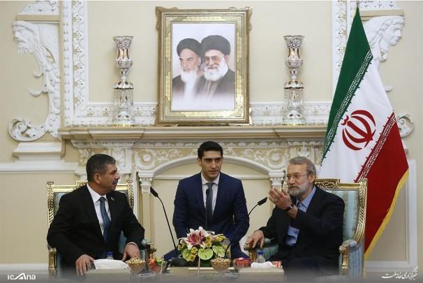 Larijani stresses providing Caspian Sea security by littoral states