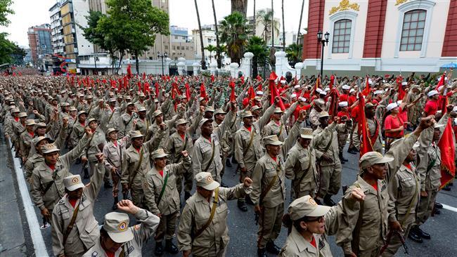Venezuela army declares loyalty to Maduro ahead of big opposition demo