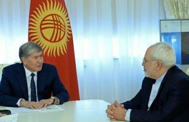 Zarif, Atambayev discuss ways to boost bilateral ties