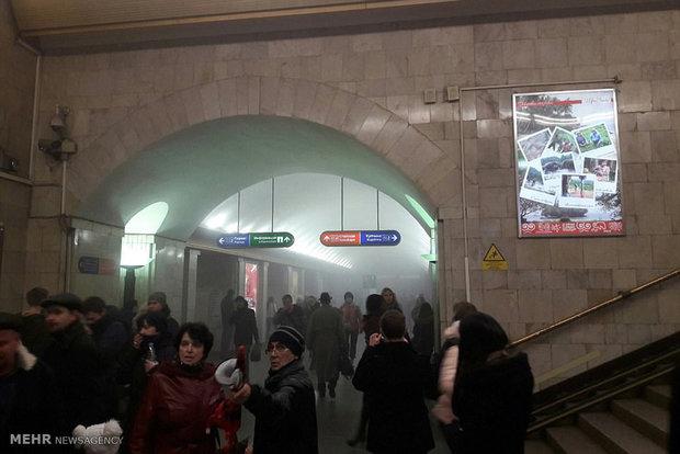 Photos of bomb blast in St. Petersburg Metro