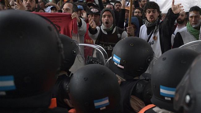 Protests turn violent in Argentina amid general strike