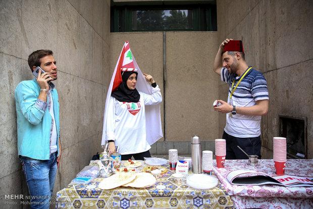 International food festival in the University of Tehran