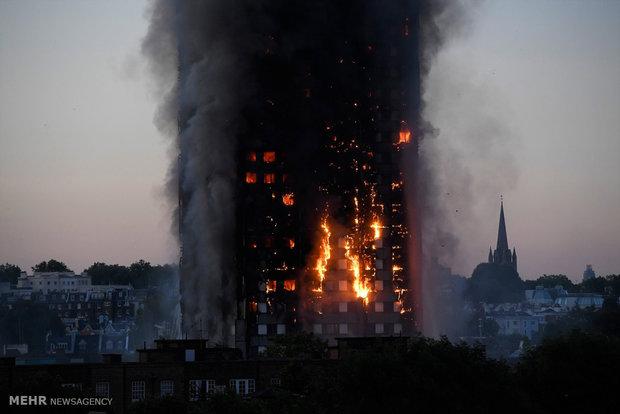 Massive fire in London tower block
