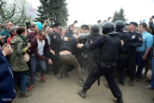 Anti-government protest in Russia