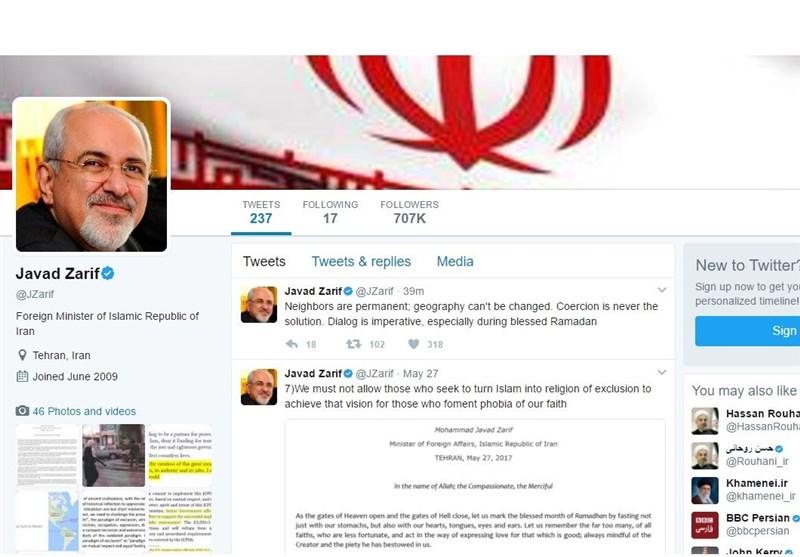 Zarif stresses dialogue among Persian Gulf countries