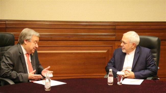 Iran FM, UN chief discuss Tehran terrorist attack, Mideast issues