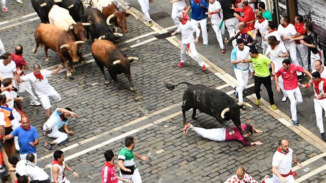 8 injured on Day 7 of Spain bull run festival