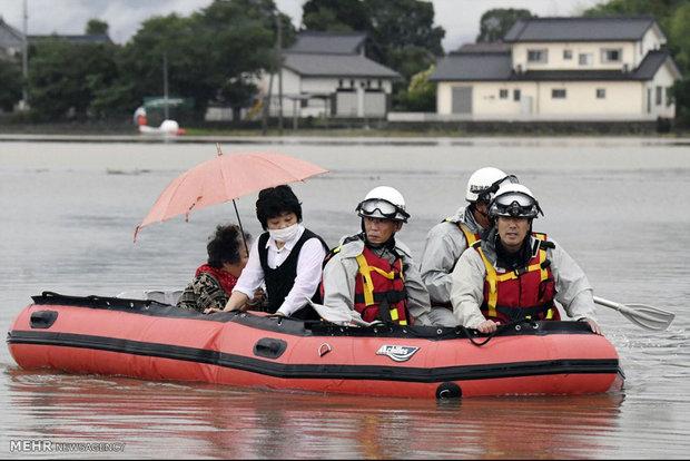 Destructive flood in Japan