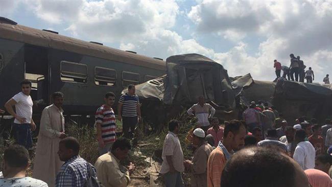 Train collision in Egypt kills 36, injures dozens