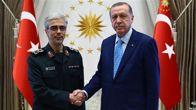 Iran military chief, Turkish president discuss defense ties
