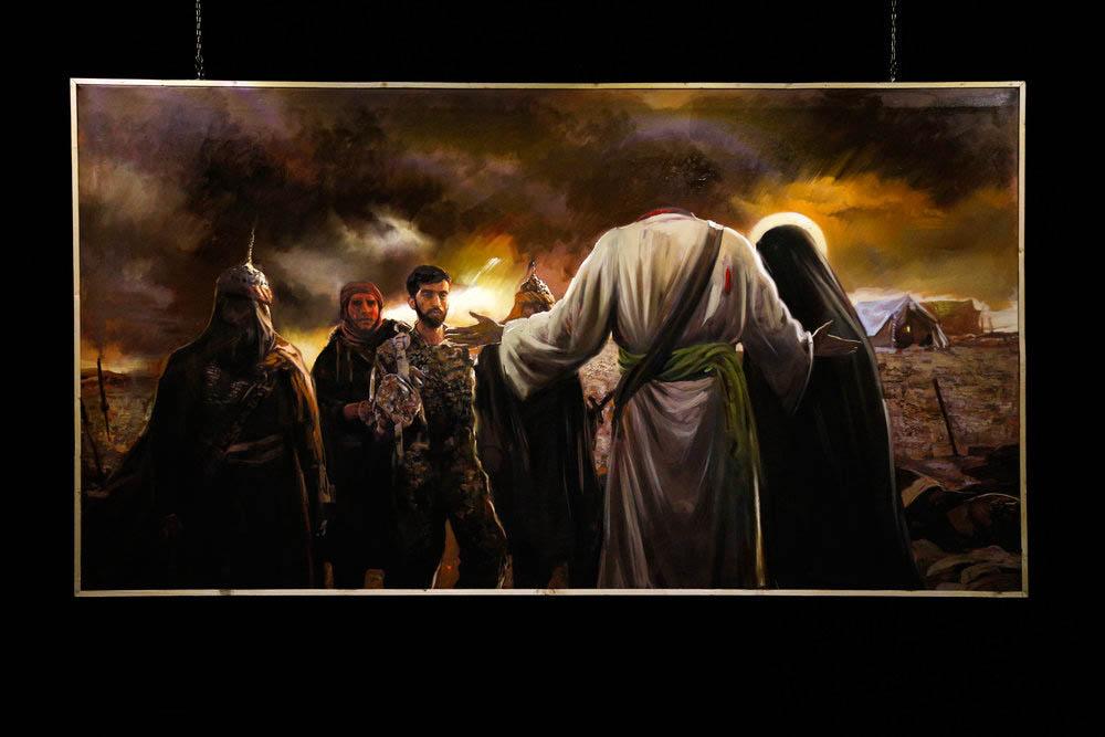 Art Bureau unveils painting of Iranian soldier Mohsen Hojaji