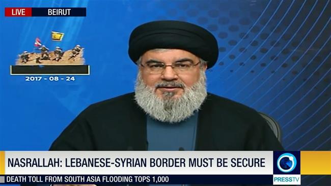 Daesh terrorists under siege along Syria, Lebanon border: Hezbollah chief