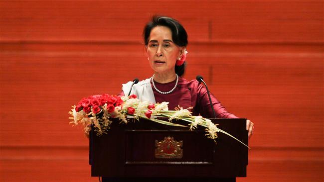 Myanmar leader defends handling of crimes against Rohingya Muslims