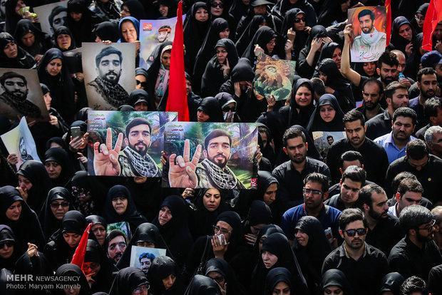 Funeral of Iranian ironic martyr Hojaji in Tehran