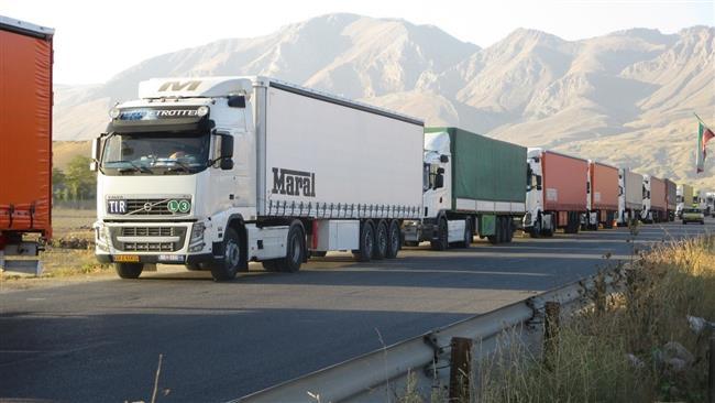 Iran reports major surge in transit volume