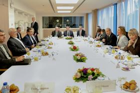 Zarif in Brussels, meets with Mogherini, European FMs