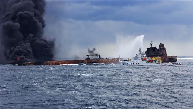 Iran, China commandos heading for stricken tanker collision site
