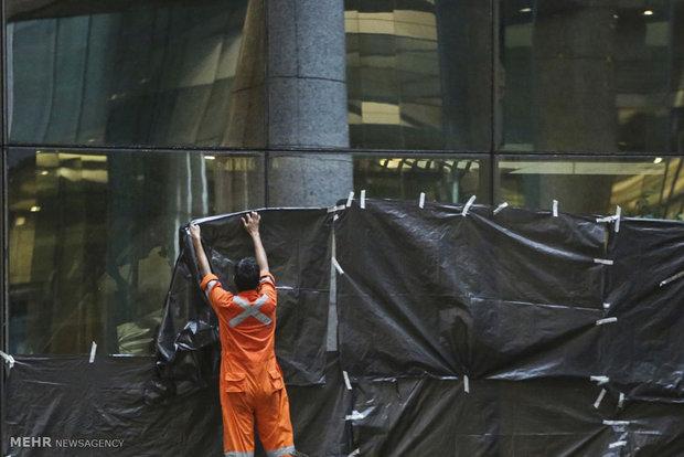 Indonesia stock exchange floor collapses